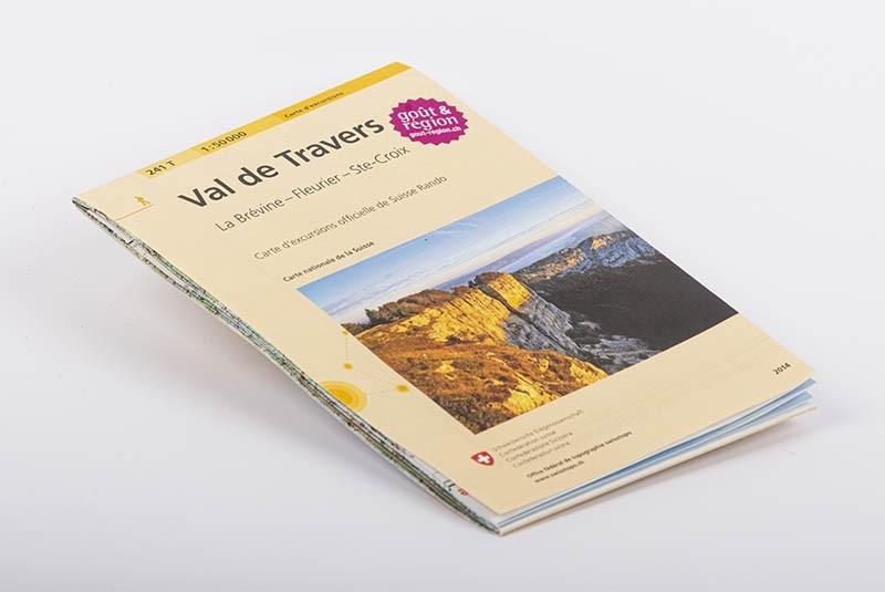 Wanderkarte und Ausflugskarte des Val-de-Travers 1:50'000 | No 241T