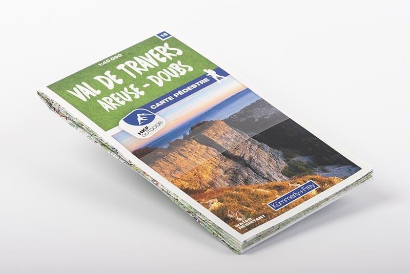 Carte pédestre Val-de-Travers Areuse-Doubs 1:40'000   N°16