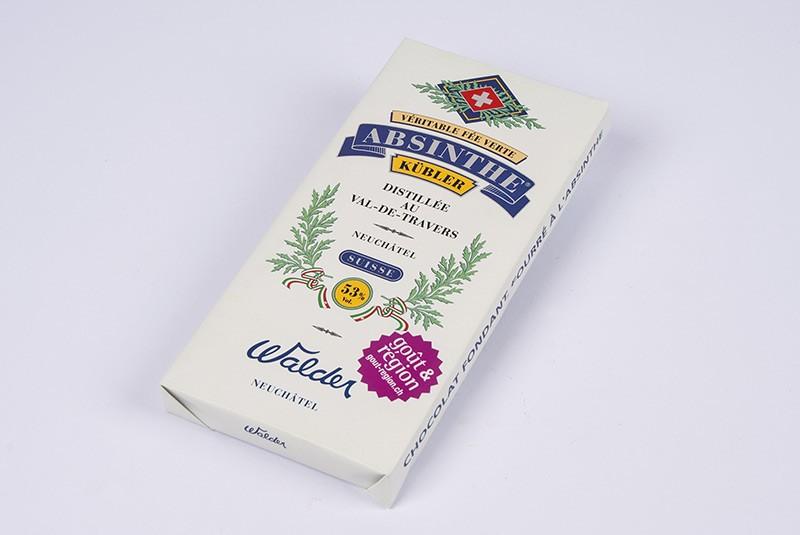 Schokolandentafel mit Absinth