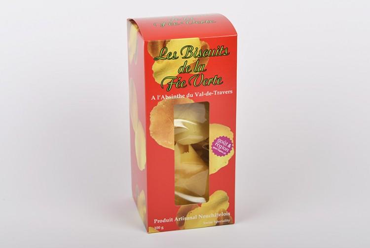 Absinth-Brezeli: Biscuits de la Fée verte