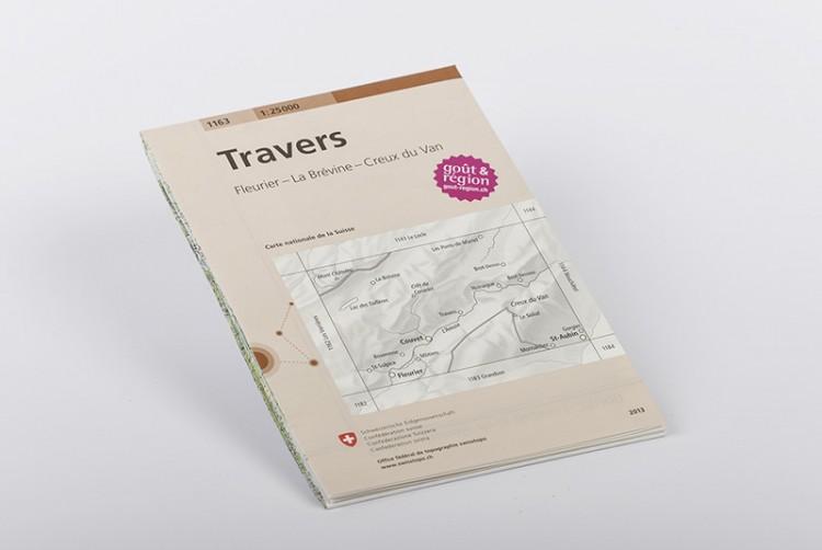 Karte von Travers 1:25'000 | No 1163