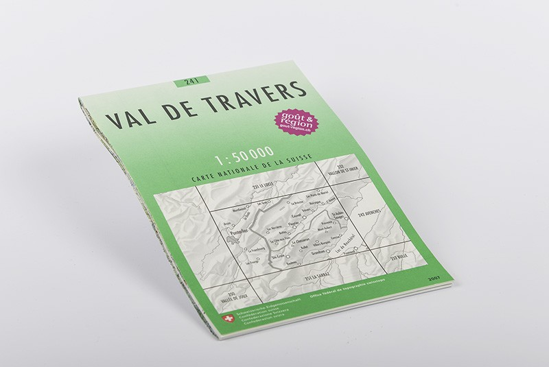Carte du Val-de-Travers 1:50'000 | No 241