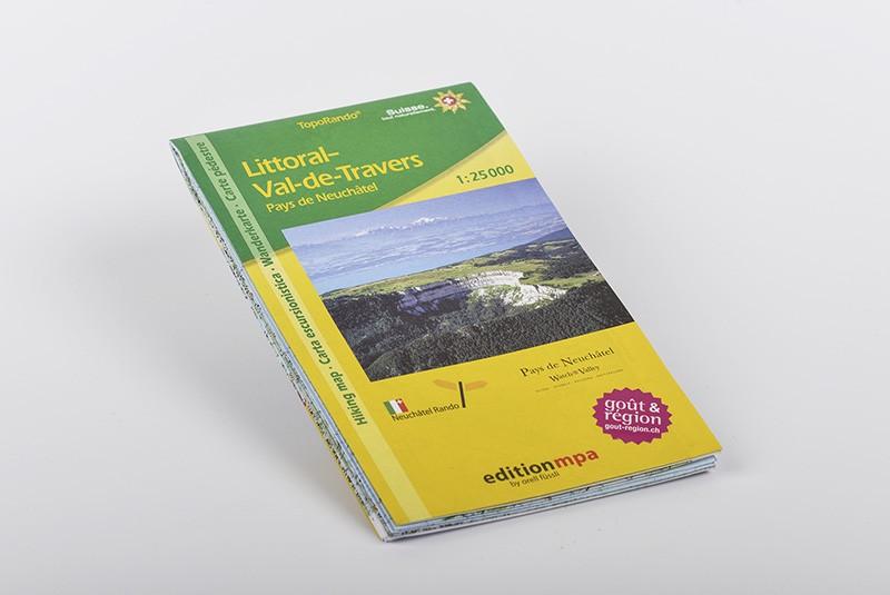 Carte du Littoral - Val-de-Travers - Pays de Neuchâtel 1:25'000