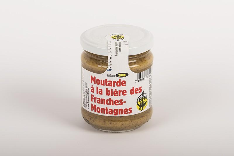 Moutarde à la bière des Franches-Montagnes