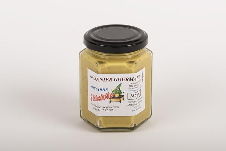 Senf mit Absinth aus dem Val-de-Travers