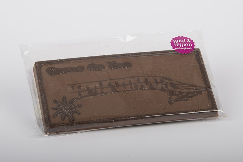 "Schokoladentafel mit Motiv ""Creux du Van"""