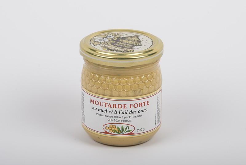 Moutarde forte au miel et à l'ail des ours