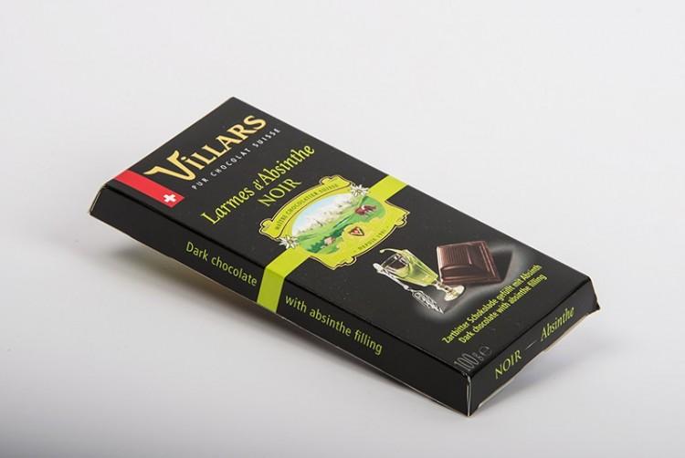 Villars Tafelschokolade  Larmes d'absinthe
