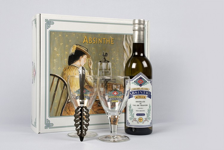 Absinth Geschenkbox Kübler