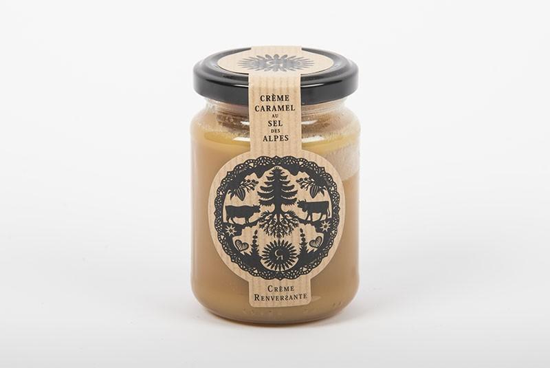 Crème caramel au sel des Alpes