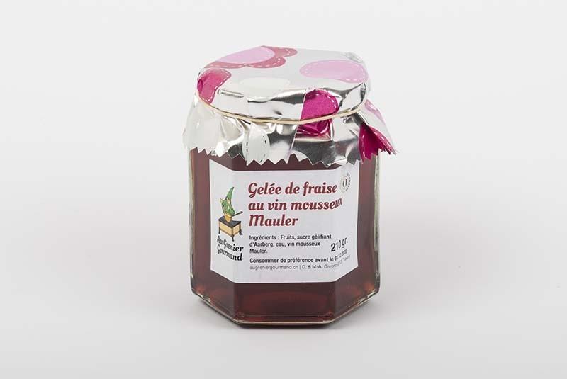 Erdbeer-Gelée mit Mauler Schaumwein