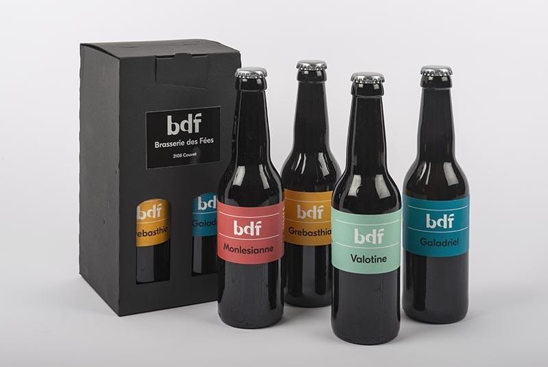 Pack de 4 bières BDF