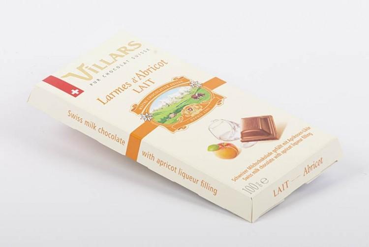 Plaque Villars   Larmes d'abricot