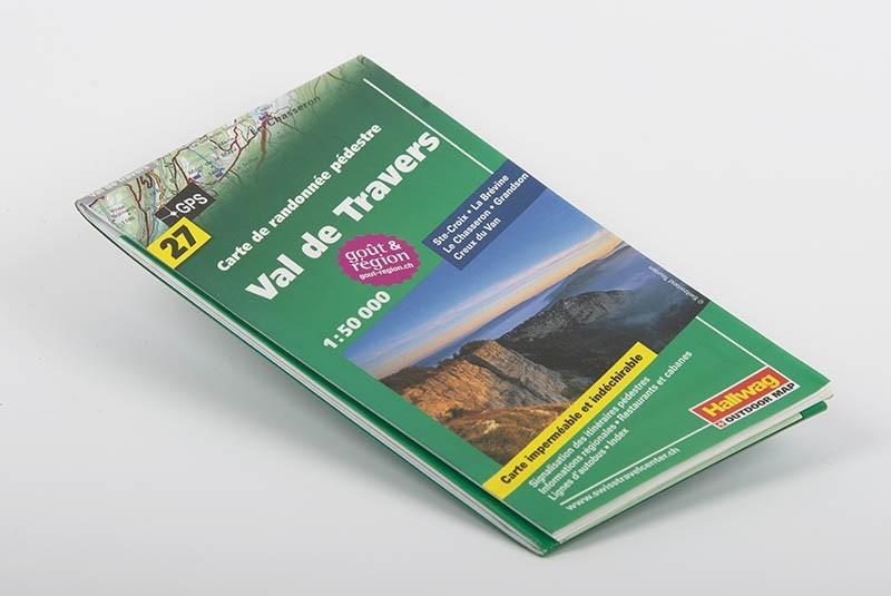 Carte de randonnée pédestre du Val-de-Travers 1:50'000 | N° 27