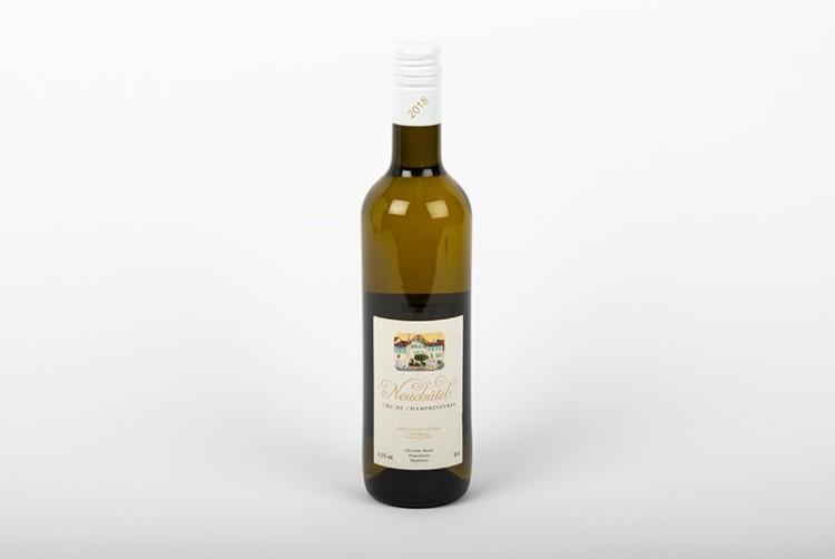 Vin blanc de Neufchatel, Chasselas Bio, AOC Cru de Champréveyres label BIO-DEMETER